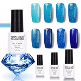 8Colors Blue Serie Shimmer Glitter Nagelgel Soak-Off UV Gel