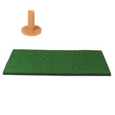 Backyard Golf Practice Mat Training Bater Prática Tee Holder Grass Mat