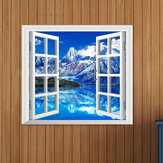 Iceberg View 3D Ventana artificial Ver calcomanías de pared en 3D Room PAG Stickers Home Decoración de pared Regalo