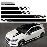 5stk Universal Car Side Body Stripe Sticker DIY Decal Trim Hood Rear View Mirror