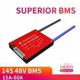 DALY DL14S 14S 48V BMS Batería Placa de protección 15A 20A 30A 40A 50A 60A Impermeable BMS para celdas recargables de iones Li Lipo NiCoMn de carga eléctrica Lifepo4 con balanza