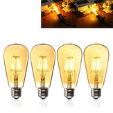 E27 ST64 6W Golden Cover Dimmable Edison Retro Vintage Filament COB LED Bulb Light Lamp AC110/220V