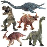 لعبة كبيرة ديناصور Brachiosaurus واقعية من البلاستيك الصلبة دييكاست نموذج هدية للأطفال