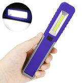 Portable Mini LED COB Inspection Batterie Lampe de lampe de poche lampe de poche lampe de travail