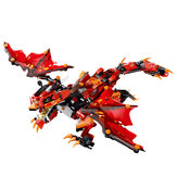 MoFun Red Battle Dragon 2.4G 4CH RC Robot Infrared Control Block Building Assembled Robot Toy Gift