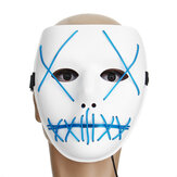 Motorcycle Halloween Horror Costume Light Up Face Mask