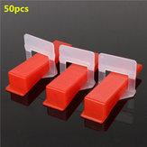 50Pcs Ceramic Tile Tiling Accessibility Spacer Clips/Wedges Plastic