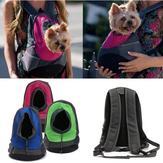 Собака кошка перевозчик щенок сетка домашнее животное дорожная сумка рюкзак двойной портативный сумка