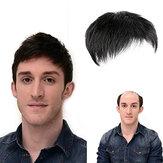 Натуральный черный короткий мужской топпер Парик Real Human Волосы зажим для тупе для мужчин повседневная одежда