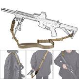 Military Nylon Regolabile Tactical Double Point Strap Gun Sling corda Cordino per CS Gun Accessories