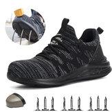 TENGOO Chaussures de travail Légères Respirantes Anti-Crevaison Anti-Crevaison Chaussures de Travail de Sécurité Hommes Chaussures de Randonnée