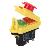 230V IP55 KJD17 GF 4 Pin Start Stop On Off Volt Release Switch Módulo de interruptor electrónico apto para máquinas de taller
