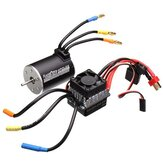 Racerstar 3650 Sensorless Brushless Waterproof Motor 60A ESC For 1/10 Off-Road Truck Truggy Cars