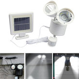 22 LED Solar Powered Double Head Motion Sensor Luminária de parede de luz branca Outdoor Security Flood Light