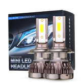 80W Mini Car COB LED Headlights Bulbs H1 H4 H7 H8 9005 9006 9012 Fog Lamp 10000LM 6000K White DC 9-32V 2Pcs