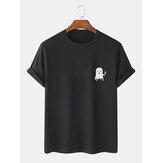 Original              Mens Halloween Cartoon Ghost Print Cotton Short Sleeve T-Shirts