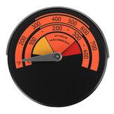 Taşınabilir Manyetik Ahşap Günlük Brülör Soba Termometre Baca Borusu BARBEKÜ Sıcaklık Ölçer Isı
