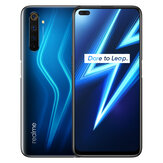 Realme 6 Pro Versi UE 6.6 inci FHD + 90Hz Ultra Smooth Display NFC Android 10 4300mAh 64MP AI Quad Camera 8GB 128GB Snapdragon 720G 4G Smartphone