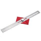Multifunctionele schrijfliniaal Woodwokring Lijnmarkeringsmeter T Type Gatenliniaal Scheidingsliniaal Liniaal