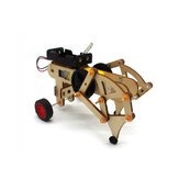 DIY STEAM RC Robot Walking Wooden Assembled Robot Toy Kit