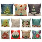 Kerstmis- Snoepreeks Kussenslopen Home Sofa Vierkante Kussensloop