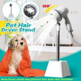 Pet Hair Dryer Holder 180 Degree Rotating Hair Dryer Bracket