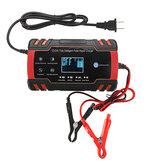 12V / 24V 8A Touch Screen Pulse Repair LCD Bateria Carregador vermelho para ácido de chumbo de motocicleta Bateria Agm Gel úmido