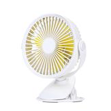 Bem Estrela WT-F15 Portátil Clipe Ventilador de 360 Graus de Rotação USB Mini Ventilador de Listra Recarregável de Ar Ventilador de Refrigeração Clipe Ventilador de Mesa Dupla Utilização Portátil Em Casa Estudante de Escritório Ventilador