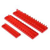 3 pezzi 1/4 3/8 1/2 Pollici presa di corrente Set di vassoi Portaoggetti per rack SAE Organizzatore Supporto per scaffali presa di corrente Supporto
