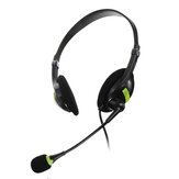 USB Wired Computer Headset Stereo Headphone Noise Cancelling Mic For PC Laptop