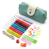 31pcs Crochet Hooks Kit Yarn Knitting Needles Sewing Tools with Knitting Bag