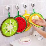 Honana Frutas Padrão Toalha Absorvente de pano Cozinha Toalha Lenço de limpeza rápida Tampão de limpeza de louças