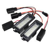 Numero di licenza LED Piatto Luci lampada 12V 3W 6000K Coppia per VW Golf 4 5 6 7 6R Passat B6