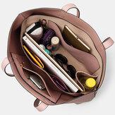 Bolso de mano multifuncional con llave extraíble y multibolsillos de 2 piezas para mujer