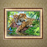 5D DIY Diamond Painting Leopard Art Craft Kit Handmade Wall Decorations Gifts for Kids Adult