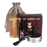 Beard Growth Kit Barber Hair Growth Nourishing Essential Oil Facial Beard Care