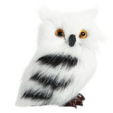 5PCS Owl White Black harige Christmas Ornament Decoration Toys Versieringssimulatie