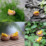 DIY Bird Nest Resin Small Ornament Moss Micro Furnishing Articles Home Succulent Plant Decoration
