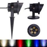 10W LED schijnwerper met staaf & kap voor tuin Yard IP65 DC 12-24V