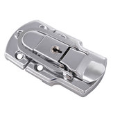 6401B 90 × 50mm Chrome Disepuh Drawbolt Penutupan Latch Case Latch Key Locking