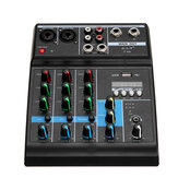 4 Channel Audio Mixer bluetooth USB Mixing Console Professional Stage Power Amplifier
