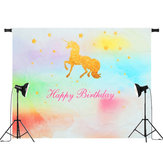 5x3ft 7x5ft Rainbow Unicorn Photography Backdrop Studio Prop Background