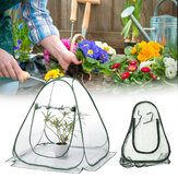 PVC Warm Garden Folding Mini Greenhouse Plants Cover Waterproof Plants Protector 31.20x27.30inch
