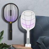2 en 1 LED lampe tueur de moustiques USB Rechargeable Fly Swatter 3000V électrique Bug Zapper insecte tueur