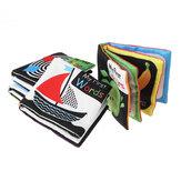 4 Packungen Sound Paper Englisches Stoffbuch Schwarz-Weiß-Aufklärung Wörter Farben Formen Zahlen Früherziehung Puzzle-Spielzeug