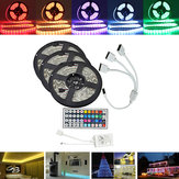 15M SMD5050 Waterproof RGB 450 LED Strip Tape Light Kit + 44 Keys Controller + Cable Connector DC12V