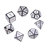 7Pcs Zinc Alloy Enamel Dices Set Polyhedral Solid Metal Dice Role Playing Game Dice Gadget RPG