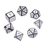 7 Pcs Liga de Zinco Esmalte Dices Set Polyédrico Sólido de Metal Dice Role Playing Game Dice Gadget RPG
