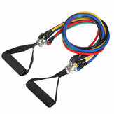 11pcs Resistance Band Rubber Loop Tube Bands Gym Ankle Straps Yoga Exercises Tools With Storage Bag