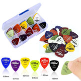 Zebra 50Pcs Electric Guitar Thumb Finger Picks with Case 0.58/0.71/0.81/0.96/1.20/1.50mm Thickness